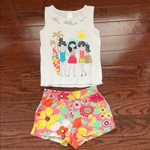 Little girls Gymboree set